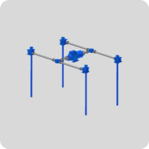 Sistema de elevación de trenes con Gatos Mecánicos